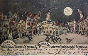 Roztańczony przedwojenny bolesławiecki Rynek (fot. polska-org.pl)